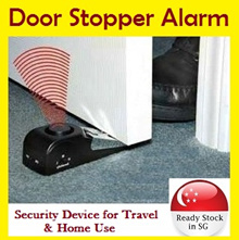 [Flat Price] Door Stopper Alarm / Wireless Security Device Travel Home / Alert System Gate