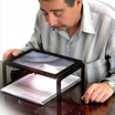 Read the sewing jewelry magnifier battery rectangular hand magnifier 3x with LED lights