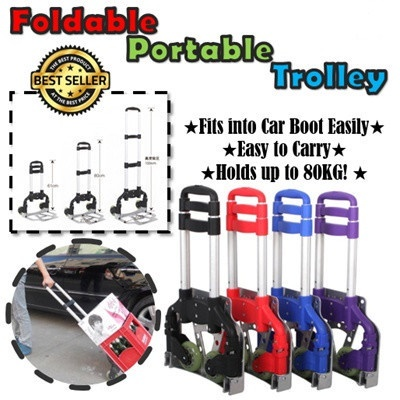 ?HOT DEAL!? Aluminium Foldable Durable Trolley Deals for only S$69 instead of S$69