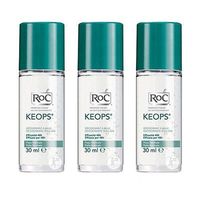 3Pcs RoC Keops Deodorant Roll-On 30ml