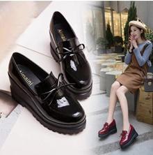 Slope with single shoes female 2017 spring new shoes wild waterproof platform high heels platform sh