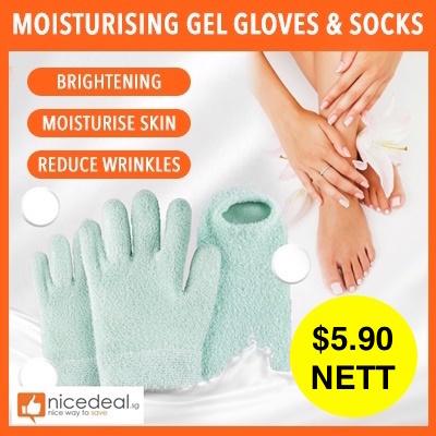 5b5dce1b0  NEW   5.90 NETT REVIVE Moisturising Gel Whitening Gloves Socks Skin Mask  Dry Skin Hand