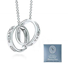 ●Direct from japan●FREE EMS● TIFFANY & Co. Tiffany Necklace 1837 Interlocking Circle Pendant Medium
