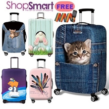 *BUY 2 FREE 1 GIFT*Travel 3D Luggage Protector Cover|Elastic Suitcase Bag Cover**MANY DESIGN**