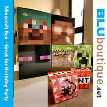 Minecraft Helmet Cum Goodie Box Minecraft Birthday TNT box
