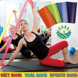 [Slimplanet]Diet Band/ Sretch band / yoga band / resistance band / sports band/exercise band/latex band 4 level latex