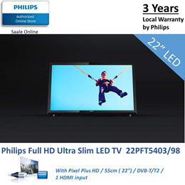 TV Time with PHILIPS Basic Full HD Ultra Slim LED 22inch TV | 22PFT5403/98 / 24PHT4003/98