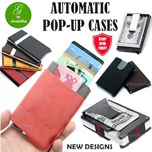 RFID Protection Automatic Pop-up Slim Card Case Holder Sleeve Anti Theft