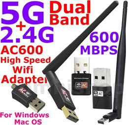 [Free Warranty] AC600 2.4G 5G Dual Band USB Wifi Adapter Wireless dongle Mini AC 600 portable