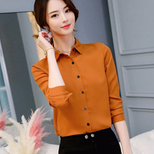 discount Office Blouse Women Summer Chiffon Blouses Shirts Ladies Girls Casual Formal Blouse Long Sl