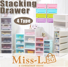 PLASTIC STORAGE CONTAINER BOX/Stacking Drawer/SINGLE TIER DRAWER/DRAWER Stackable Space Saving