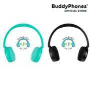 BuddyPhones POP Wireless Cool Bluetooth Over Ear Volume-Limiting Headphones for Young Teens 19hrs