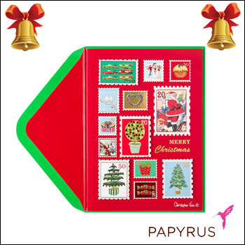 Free Shipping No Cash On Delivery Papyrus Greeting Cards Holiday Postage Stamps Gift