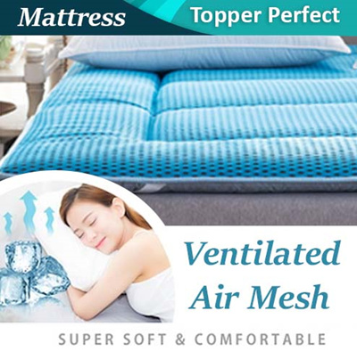 New 95% Aeroflow Mattress Topper Cooling ~  [ High Breathable/Anti bacterial]