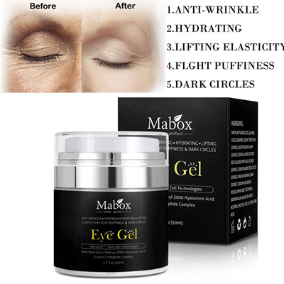Mabox Anti-Wrink Hyaluronic acid Eye Cream Gel Anti Puffiness Dark Circles  Anti Aging Whitening Lift