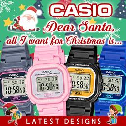 CASIO LATEST LA-20WH KIDS RESIN DIGITAL LIGHT WATCH BRAND NEW ALARM STOPWATCH