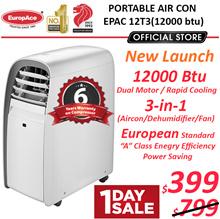 *Energy Saving* EuropAce Portable AirCon 12000 BTU - 5 years compressor warranty