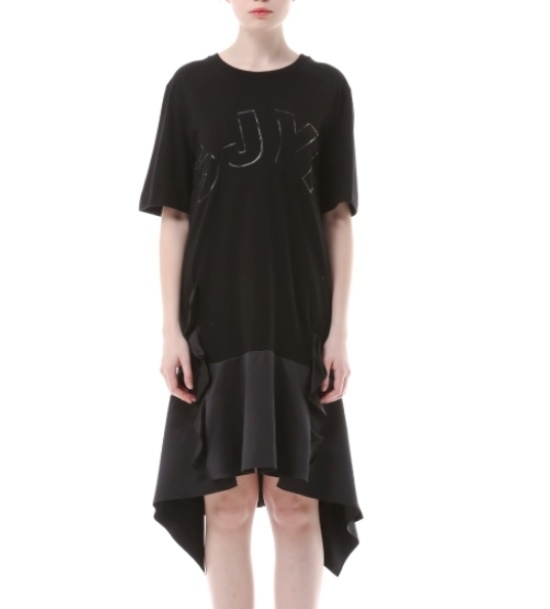 エスジェイとジェイピーのロゴ・プリンティングロングワンピースPWMR3WO0300 面ワンピース/ 韓国ファッション