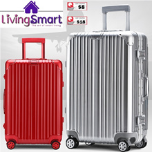 *APPLY Qoo10 Coupon*Travel Aluminium Alloy Frame Luggage|Suit Case TSA Lock|