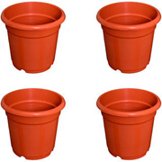 Flower Pots 8 inch Set of 4, Plant Container ( External Height - 20 cm)