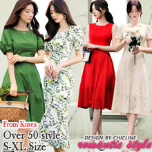 [Chicline] 2018 new arrival Korean dress  [UP TO 65% OFF - women fashion Korean Formal Dress