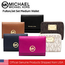 Michael Kors Fulton/Jet Set Medium Wallet/Official Genuine Products Shipped from USA
