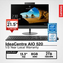 Lenovo IdeaCentre AIO 520 21.5/23 FHD I3-6006U/I5-8250U/I5-7400T/ 1/3 Year Local Warranty