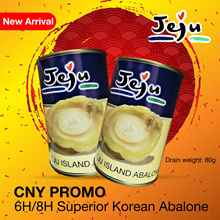Jeju Korean Braised Superior Abalones 6/8 Heads (Pieces) Premium Grade
