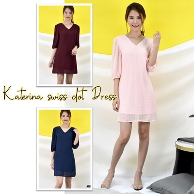 Katerina swiss dot Dress