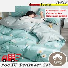 ★100% Pure Cotton 700TC★ Bedsheet Set