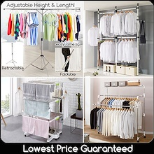 [BL] Korean Clothes Rack BR703 BR702 BR505 / Standing Pole /Retractable Laundry / X Drying Rack
