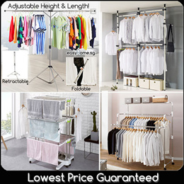 ★SALE★ Korean Clothes Rack BR703 BR702 BR505 / Standing Pole /Retractable Laundry / X Drying Rack