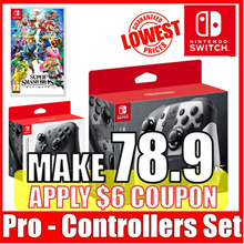 [Nintendo Switch] Nintendo Switch Pro Controller Set  (Black Super smash bros.)
