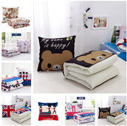 3 iN 1 Foldable Throw Pillow Blanket Cushion