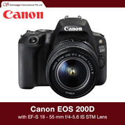 Canon EOS 200D Digital SLR Camera with EF-S 18 - 55 mm f/4-5.6 IS STM Lens