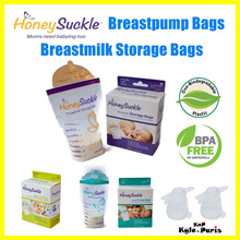 ★PROMO PRICE★ Honeysuckle Breast Milk Storage Bag • Pump Directly Breastpump Bag • 120ml 180ml