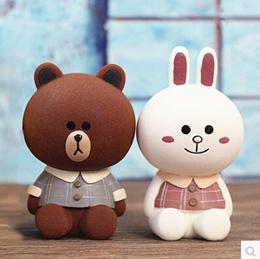 Cute Brown Bear Piggy Bank Piggy Bank Adult Children Cartoon Gift