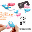 [SAVEMORE] Electronic Guardian Angel Wing Self Protection Security Bodyguard Personal Alarm /Anti Snatch and Anti Rape/For Mobile Phone or Personal Belonging / Act as Key Chain /Effective and Pretty