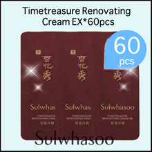 Sulwhasoo] ★Timetreasure Renovating Cream EX *60pcs/Sample/Korea Cosmetics/ Luxury Anti-aging