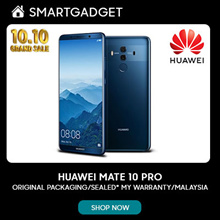 (RM2,299.00 After Coupon Applied) SPECIAL PROMO for HUAWEI MATE 10 PRO 6+128 - FREE Huawei Gift Box and Special Digital Coupon worth RM300 *ORIGINAL PACKAGING/SEALED* MY Warranty/Malaysia