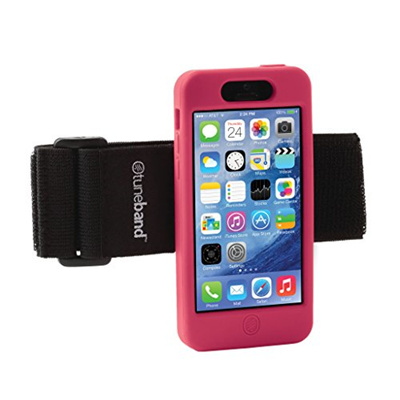 TuneBand for iPhone 5C, Premium Sports Armband with Two Straps and Two Screen Protectors (Pink)