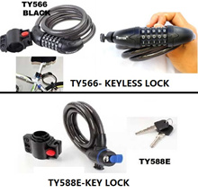 Anti Theft Device Motor Bike Cycle Bicycle Scooter Wire Cable Lock Bicycle/Bike Lock 5-Comb