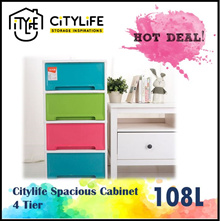 Citylife Spacious Cabinet 4 Tier 108L / 5 Tier 135L