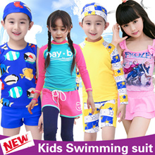 2018 Kids Swimwear / Children Swimsuit / Rash Guards / Baby Swimming wear / Bikini Diving Boys Girls