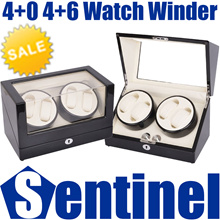 4+0 4+6 Professional Automatic Battery or DC Powered Watch Winder Winding Watches Box Case Storage