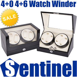 4+0 4+6 Professional Automatic Battery DC Powered Watch Winder Winding Watches Box Case Storage