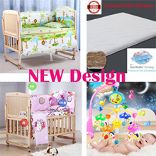 Baby cot*Bedding set*crib*newborn*pillow*bumper*bed sheet*gift present kid infant*musical* mattress