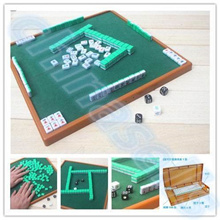 small travel mahjong set mini Mahjong portable mahjiang tiles with table pieces traditional chinese