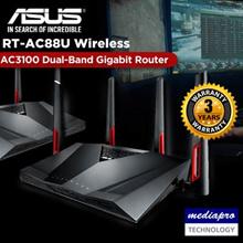 ASUS RT-AC88U Wireless AC3100 Dual-Band Gigabit Router w/8-Gigabit Lan - Local Asus 3 year Warranty
