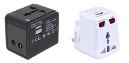 Universal World Travel Adapter / USB Port / Europe / UK / USA / Australia / China / SG Seller